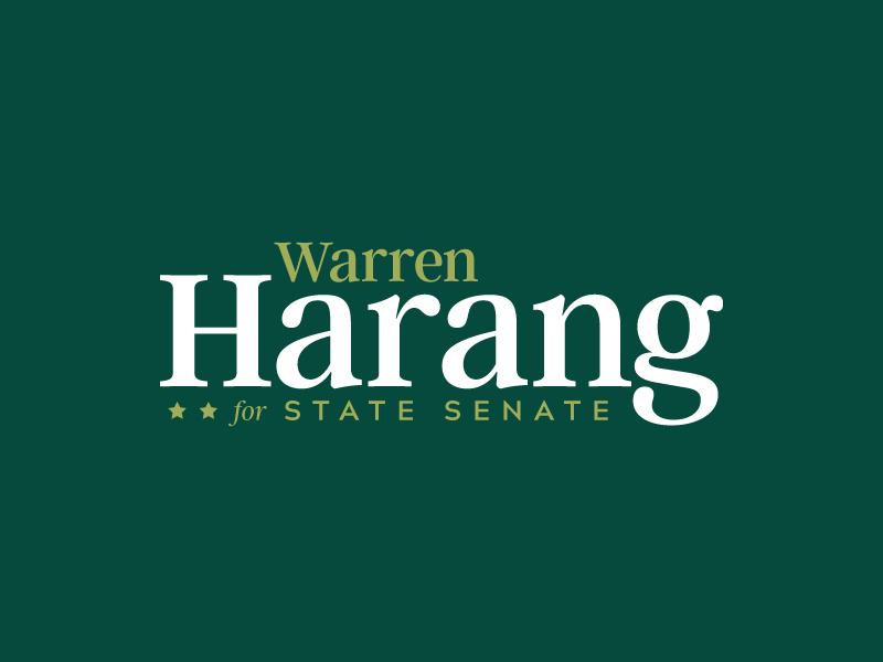 Warren Harang typography rural green political logo logo