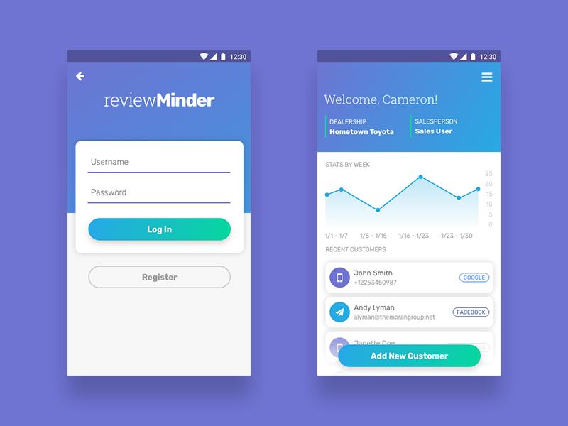Login + Dashboard dashboard login colorful app design ui ux app