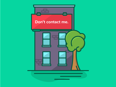 Don't contact me ooh outdoor billboard ad building tips icon advertising illustration infographic