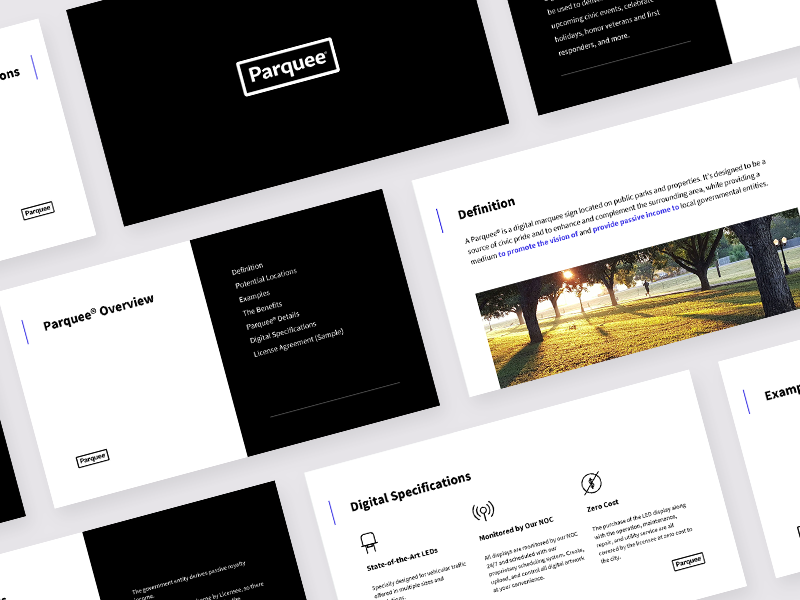 Light & Dark corporate clean simple branding pptx deck slide google slides ppt presentation
