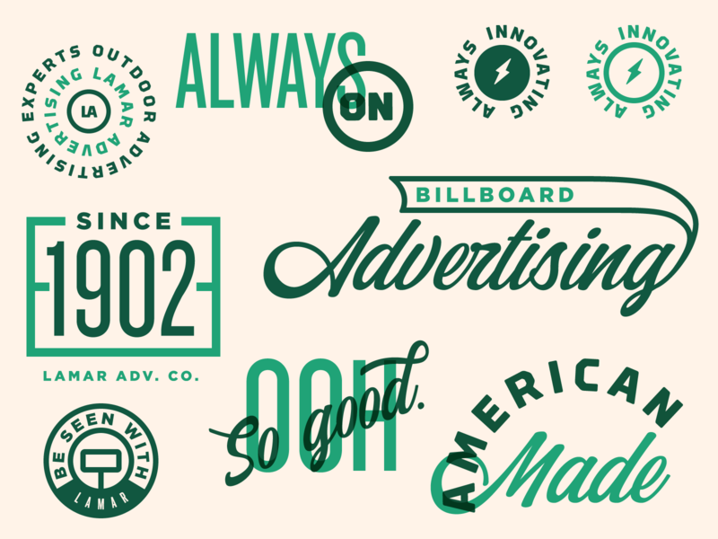 Bits & Things billboard louisiana illustration green shield badge brand icon typography branding logo