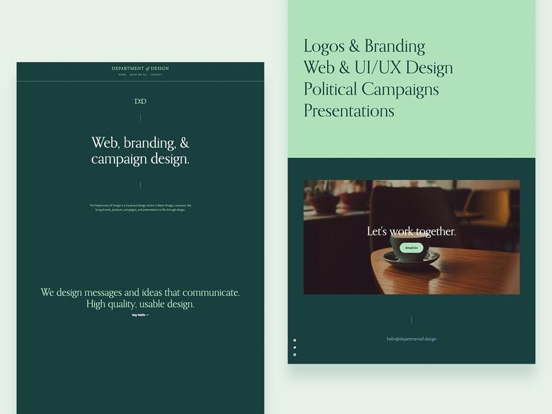 Redesign Time website concept ui ux studio typography green web design website