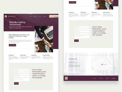 Dickson Law Firm Web brand branding attorneys attorney lawyers microsite landing page ux ui web website lawyer law firm