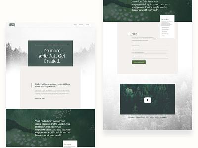 Oak website animation online web website concept ux ui agency microsite branding green landing page website