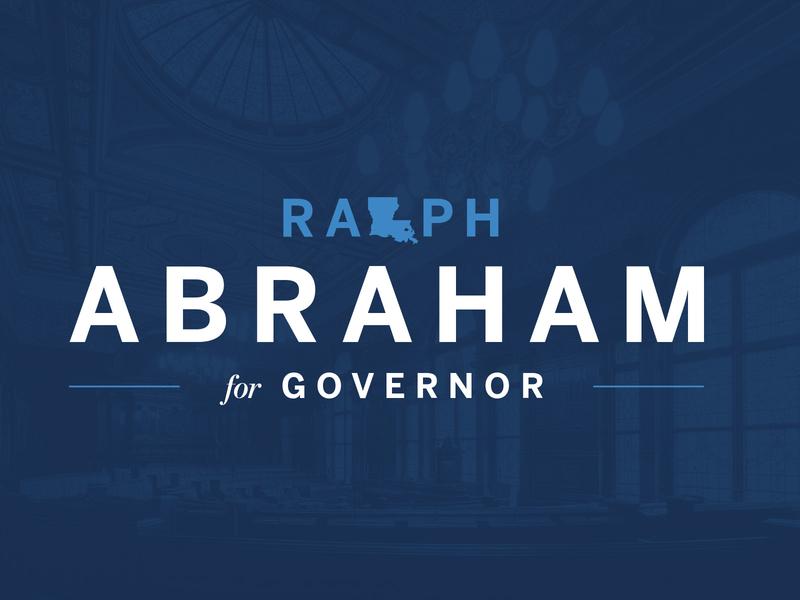 Ralph po louisiana usa america patriotic blue brand branding politics campaign political campaign politician logo political