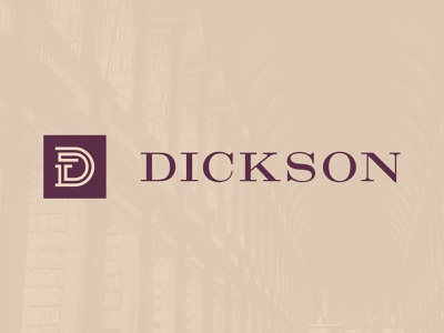 Dickson professional clean classic gold purple monogram logo brand attorneys legal adviser legal office branding attorney lawyer legal law firm