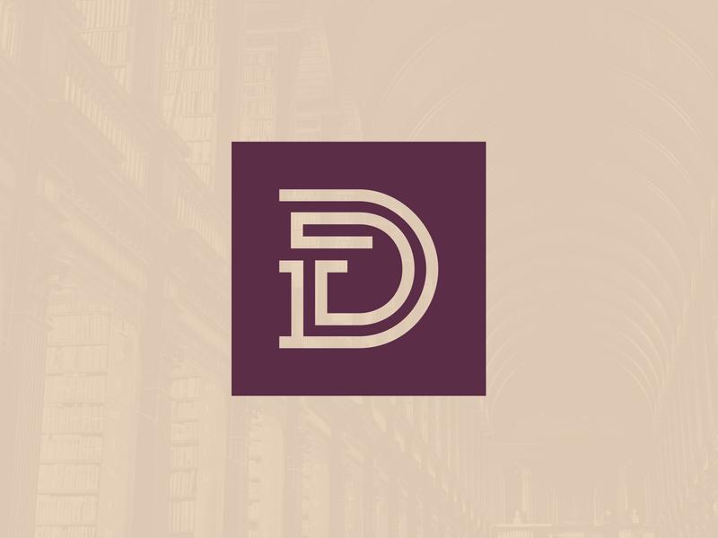 Dickson Monogram purple gold typography monogram letter mark brand system branding brand monogram logo law firm legal attorney lawyer law icon logo monogram