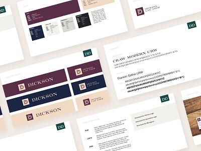 Dickson Brand Guide branding brand agency google slides powerpoint logo brand and identity identity brand guideline presentation brand guide guidelines brand