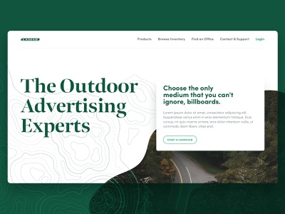 Experimentalizing web ux ui website design green louisiana brand typography branding