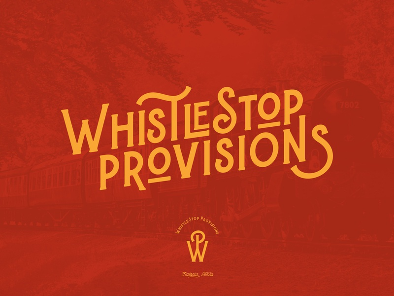Whistlestop Provisions typography packaging design concept branding concept logotype logos brand train branding design packaging branding logo