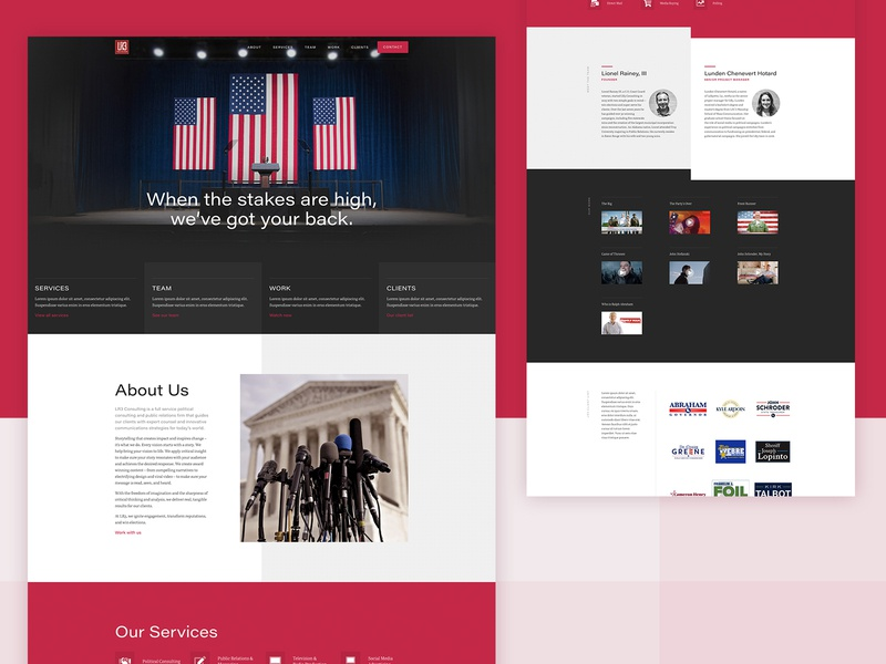 LR3 Consulting webflow website concept web design uxui ux webdesign brand consultancy consulting political website