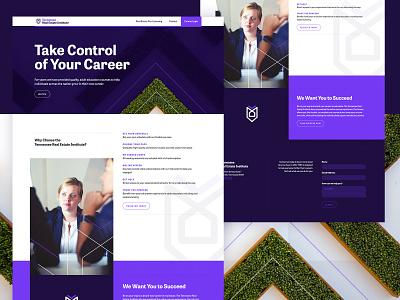 Tennessee Real Estate Institute Microsite website concept landing page web design ux ui design typography brand branding logo