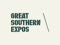 Great Southern Expos typography styleguide brand identity brand outdoors fishing hunting southern south expo convention brand system branding logo