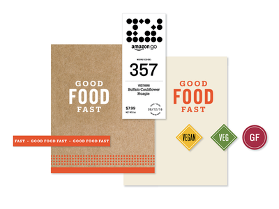 Amazon Go Packaging Kit-Of-Parts pattern packaging labels dietary tech food brand amazon amazongo