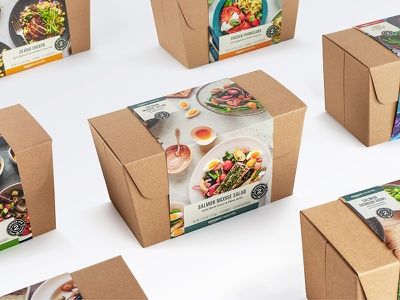 Amazon Meal Kits Packaging to-go packaging dinner for two badge branding logo delicious dinner food amazon meal kits amazon