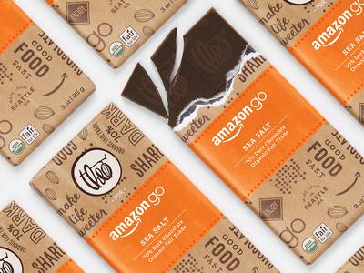 Theo Chocolage for Amazon Go brand chocolate bar amazon go chocolate