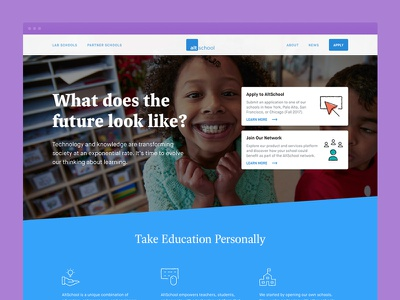 AltSchool Homepage clean layout education redesign branding web design website