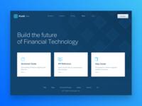 Plaid API Docs web design layout hero design finance doc api fintech plaid