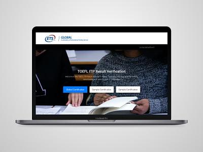 Website Design for ETS website design ui ux