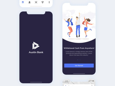 Splash/Onboarding - POS(Point Of Sale) - Withdraw Cash client splash onboarding minimal ux ui dashboard bank app merchants outlets pos cash withdraw customers