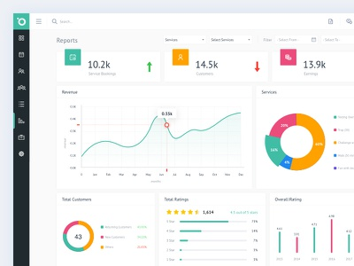 Reports filter list data flat minimal ui ux data analysis dashboard table illustration card product graph customer client details service analitycs report