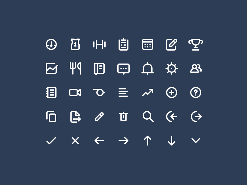 Strongr app icons