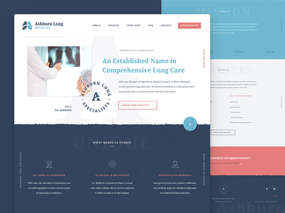 Ashburn Lung Home branding interface pulmonologist pulmonology ui ux website