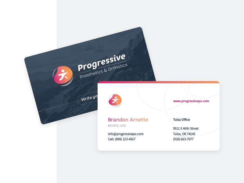 Progressive business cards  dribbble