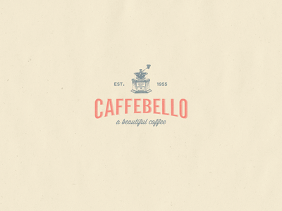 Caffebello - Logo Design coffee branding coffee brand coffee logo coffee shop vintage brand shop coffee