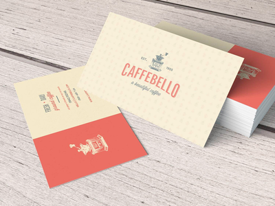 Caffebello - Business Card Design coffee shop coffee logo coffee branding coffee brand vintage shop logo coffee brand