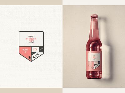 Australian Brewing Company - Packaging // Love Wizard bottle packaging design logo design illustration beer grunge minimal badge love