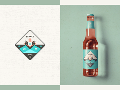 Australian Brewing Company - Packaging // The Healer healer badge minimal grunge beer illustration logo design design packaging bottle