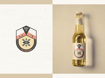 Australian Brewing Company - Packaging // The Dreamer eye bottle packaging design logo design illustration beer grunge minimal badge dream