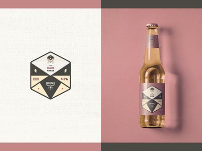 Australian Brewing Company - Packaging // The Rainmaker rainmaker rain badge minimal grunge beer illustration logo design design packaging bottle eye