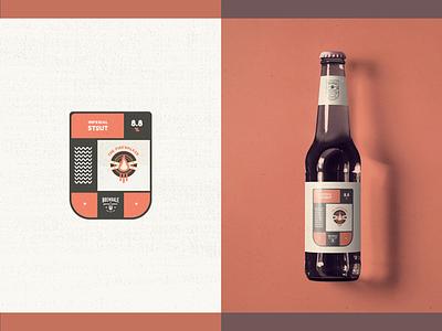 Australian Brewing Company - Packaging // The Firewalker label bottle packaging design logo design illustration beer grunge minimal badge fire firewalker