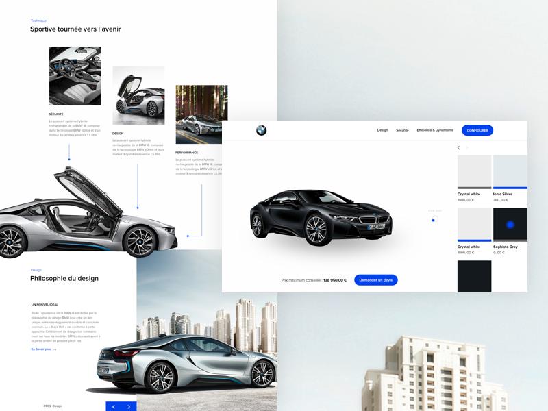 BMW i8 - Website first shot i8 interface configurator bmw cars