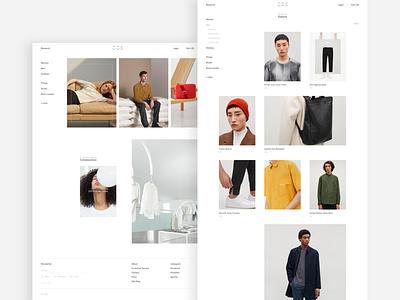 COS • E-shop product ux ui fashion shop homepage minimalism landing web
