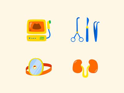 Illustrations Set for Child Clinic website icon set children clinic illustrator vector branding art illustration design cartoon