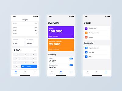 Financial Mobile App ux ui mobile design mobile app mobile ui minimal ios interface design clean ui application app