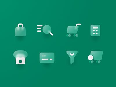 Free Icons Pack for Ecommerce branding figma svg vector transparent minimal illustraion icon set icon icons freebie ecommerce design blur