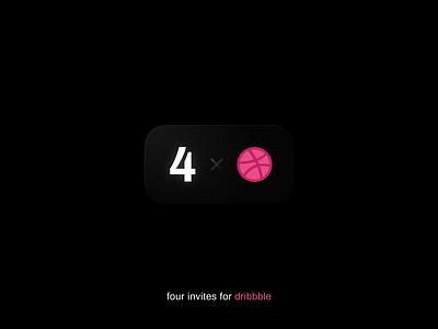 Four Invites for Dribbble invites invite figma minimal vector art design