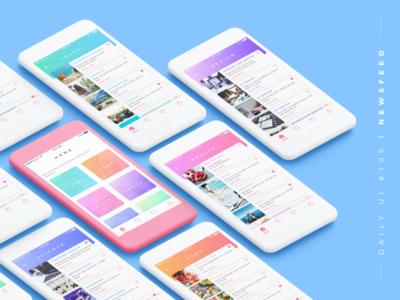 Daily UI #105 Newsfeed - Concept