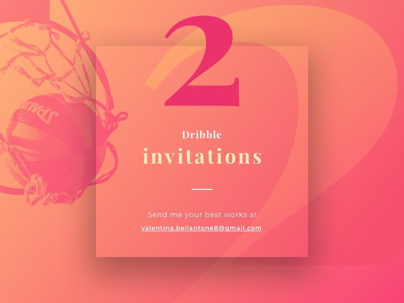 2 Dribbble Invitations colors gradient giveaway dribbble invite 2 invitations