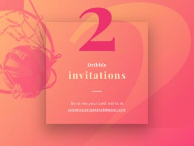 2 Dribbble Invitations