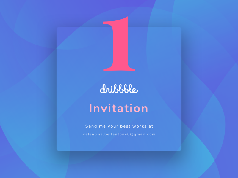 Dribbble invitation invitation shapes dribbble card bright colors gradient
