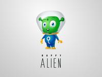 Happy Alien character