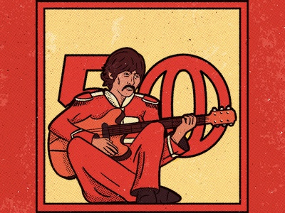 The Sgt Pepper Series - George Harrison typography the texture pepper sgt retro mccartney logo liverpool lennon beatles 60s