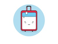 Suitcase character