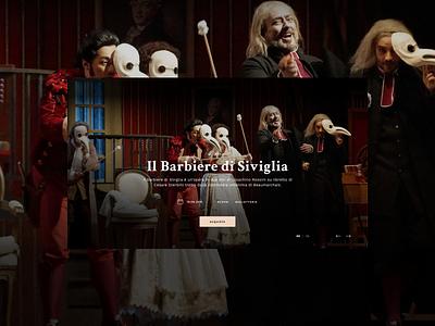 Barbiere di Siviglia 1 website ux ui sketch identity digital design creativity colors brand