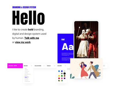 Hello brand sketch typography branding colors creativity app interaction web website ux ui identity design
